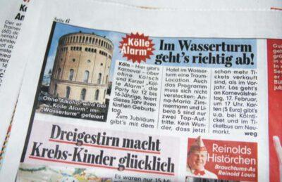 KölleAlarm Zeitungsartikel